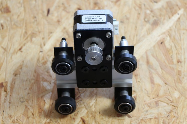 installing y-axis motor unit