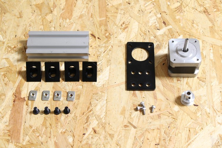 list of parts for assembly of y-axis motor frame unit