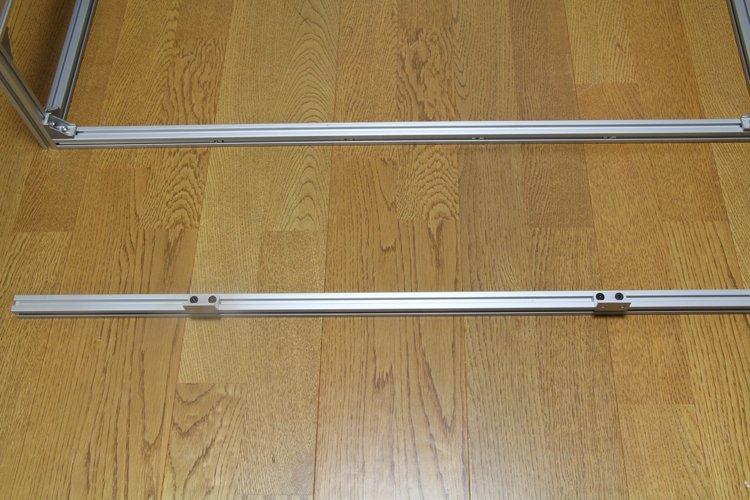 attach flat-bracket to 860mm aluminum frame