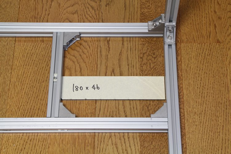 fixing aluminum frame with acrylic plate