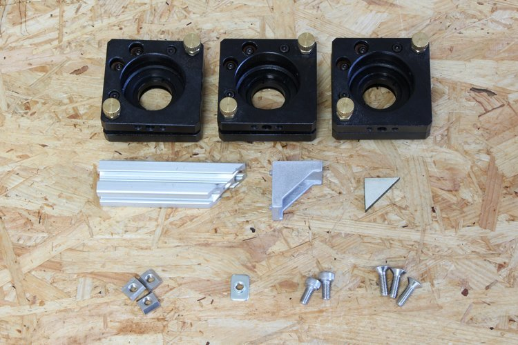 parts for attachment of mirror lens mount