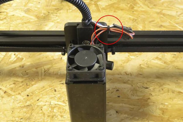 tying laser cables