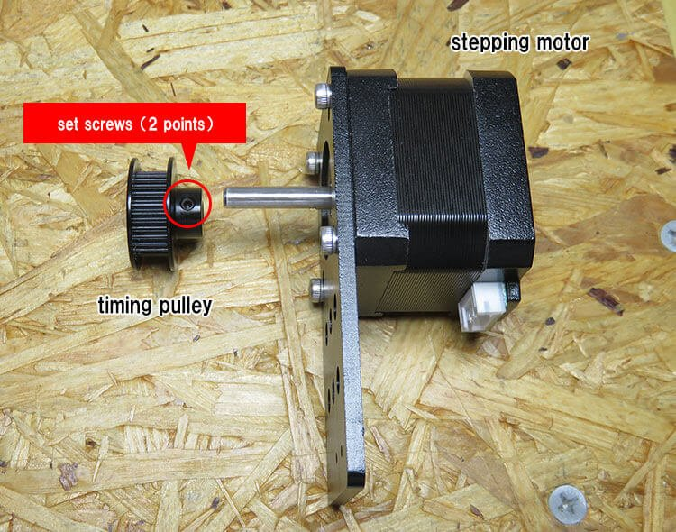 assembly of timing pulley