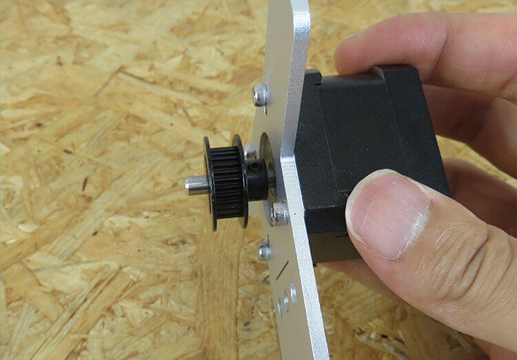 installing timing pulley to y-axis motor unit