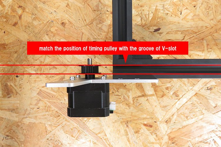 position of timing pulley