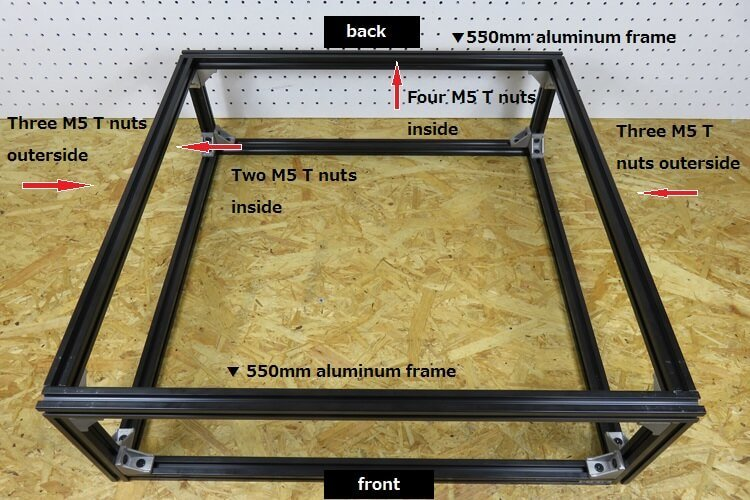 inserting-M5-T-nut